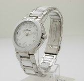 WATCH POTENS LADY STEEL AND WHITE CERAMIC 40-2566-0-1