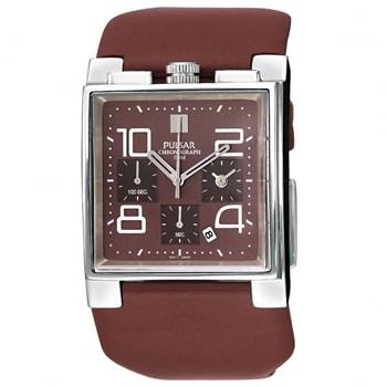 Reloj Pulsar para hombre en marron chocolate PF8101X