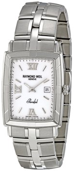 WATCH RAYMOND WEIL PARSIFAL RECTANGULAR MEN 9341-ST-00307