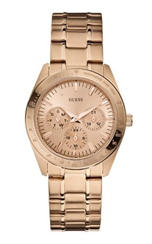 Guess IP rose gold watch W13101L1