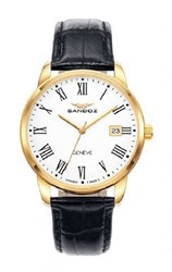 Reloj Sandoz negro dorado hombre 81437-93 11688