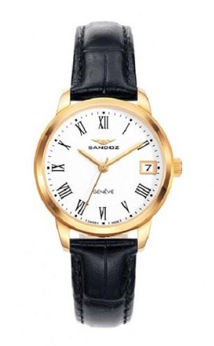 Reloj Sandoz negro dorado mujer 81340-93 11689