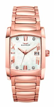 Montre Sandoz Starlight rose avec diamants 71586-00