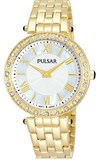 Reloj Pulsar,señora caja y brazalete acero chapado,bisel con cristales swarovski    PM2106x1