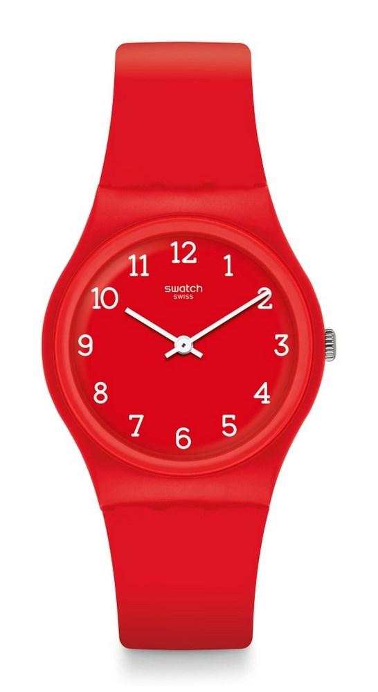 Reloj silicona rojo gr175 swatch
