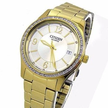 SRA WATCH ECO-DRIVE EV0042-53A STONES WITH GOLD PLATING Citizen