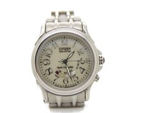 SRA CITIZEN ECO-DRIVE WATCH STEEL RADIO CONTROL ES400051W