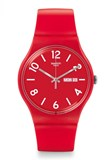 Reloj rojo backup suor705 Swatch