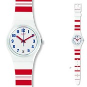 SWATCH WATCH WHITE AND RED GW407