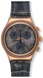 WATCH SWATCH CHRONO IRONY GREY IN ROSE YCG411