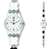 SWATCH WATCH-LADY BLACK-AND-WHITE LK367G