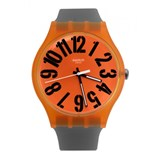 MONTRE SWATCH ORANGE ET GRIS SUOO103
