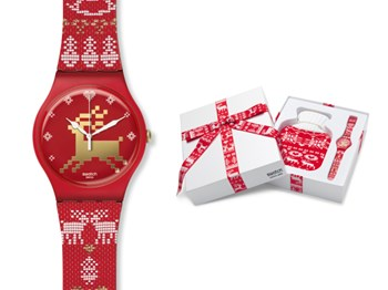 SWATCH MONTRE SUOZ172S TRICOT ROUGE
