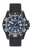MONTRE SWISS MILITARY BLUE CARBONE 6430917003