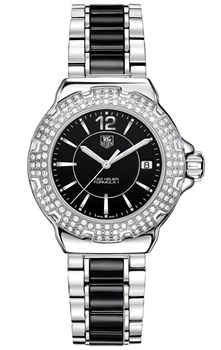 TAG HEUER F1 LADY WATCH STEEL AND CERAMIC WAH1217.BA0859