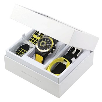 WATCH TECNOMARINE RUBBER BLACK COMBO-YELLOW WAYMARK CHRONO 112016 TECHNOMARINE