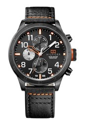 Reloj Tommy Hilfiger negro cuero 1512 1791136