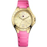 TOMMY HILFIGER PLATED IN GOLD AND RUBBER STEEL LADY WATCH PINK 1781387