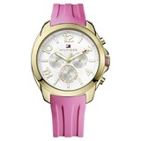 WATCH TOMMY HILFIGER LADY STEEL PLATED IN GOLD AND RUBBER ROSE 1781389