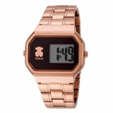 WATCH TOUS D-BEAR DIGITAL STEEL IP PINK DBEARIPRGBRAZ
