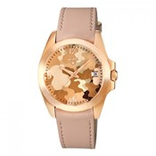 Reloj Tous de mujer en piel rosa y dorado rosé 600350425