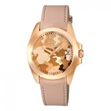 WATCH TOUS A WOMAN IN PINK LEATHER AND GOLD TONE ROSÉ 600350425