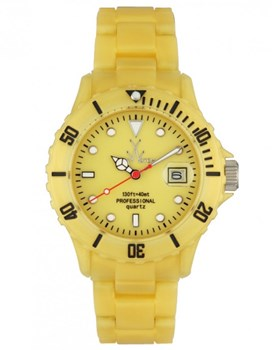 MONTRE TOY WATCH FLUO OR NACRÉ TEMPS SEUL FLP02GD