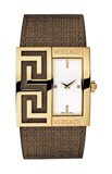 WATCH VERSACE BELT LEATHER - GOLDEN-1000419