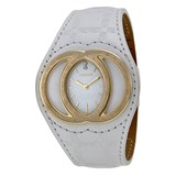 WATCH VERSACE ECLISSI WHITE LEATHER AND WHITE DIAL