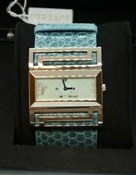 WATCH, VERSACE DEAUVILLE WOMAN S SILVER - BELT SKIN