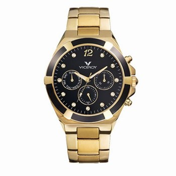 WATCH VICEROY 47638-55. WIDTH 40MM. CASE AND CHAIN PLATED IN GOLD. Reloj Viceroy 47638-55