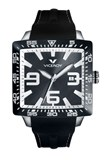 WATCH VICEROY UNISEX SQUARE BLACK RUBBER 432099-55