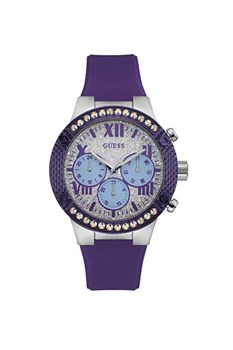 WATCH W0772L5 GUESS WATCH RUBBER LILAC WITH SWAROVSKI CRYSTALS