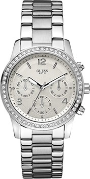 MONTRE LA LUNETTE EN ACIER SWAROSKY W14537L1 SUPPOSE QUE LADY Guess