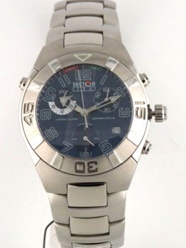 WATCH SECTOR 750 CHRONO ALARM STEEL BLUE DIAL 2653976035