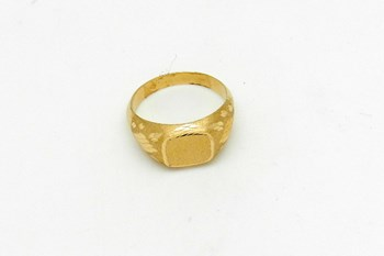 N 17 GOLD SEAL RING
