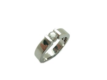 RING SOLITAIRE WHITE GOLD AND DIAMOND-346 B-79 A-346