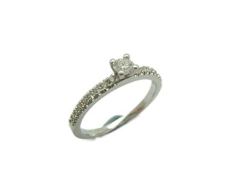 RING SOLITAIRE WHITE GOLD WITH DIAMOND A-407 B-79
