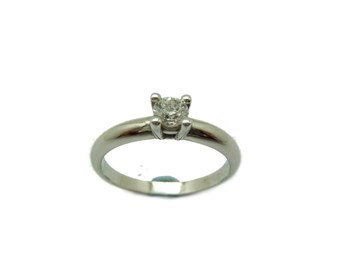 Bague solitaire en diamant or blanc A-359 B-79