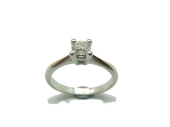 RING SOLITAIRE WHITE GOLD WITH DIAMOND A-404 B-79
