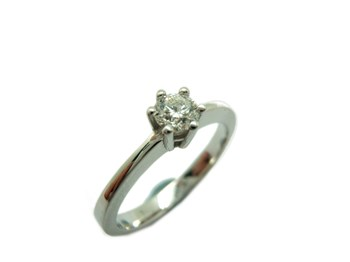 RING SOLITAIRE WHITE GOLD WITH DIAMOND A-405 B-79