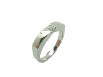 RING SOLITAIRE WHITE GOLD WITH DIAMOND A-156 B-79