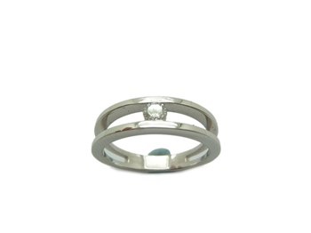 WHITE GOLD DIAMOND SOLITAIRE RING B-79 A-351