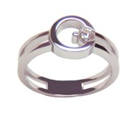 Bague or blanc diamant Solitaire A-356 B-79