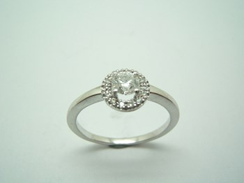 RING SOLITAIRE WHITE GOLD AND DIAMONDS B-79
