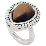 RING RING PURE SILVER WITH TIGER PPA369 EYE Plata Pura