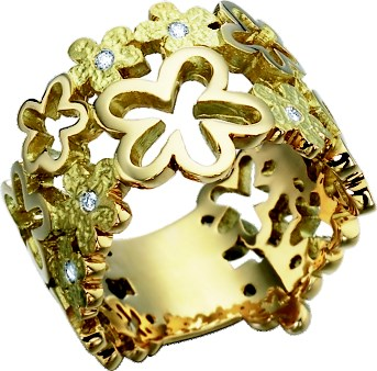 TAILLE BRILLANT BAGUE OR JAUNE 18 CARATS DIAMANT-5