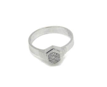 BRIGHT AND WHITE GOLD RING