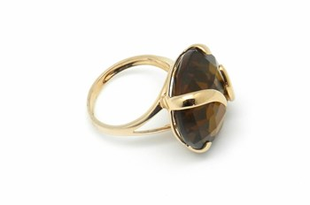 Gold with natural stone ring