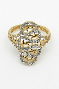 RING OF GOLD AND STONES